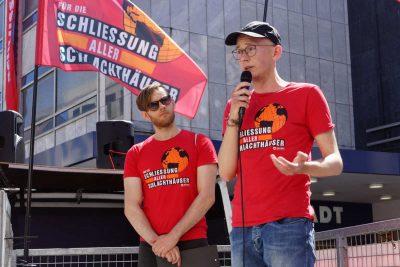 Demos für die Schließung aller Schlachthäuser Bielefeld
