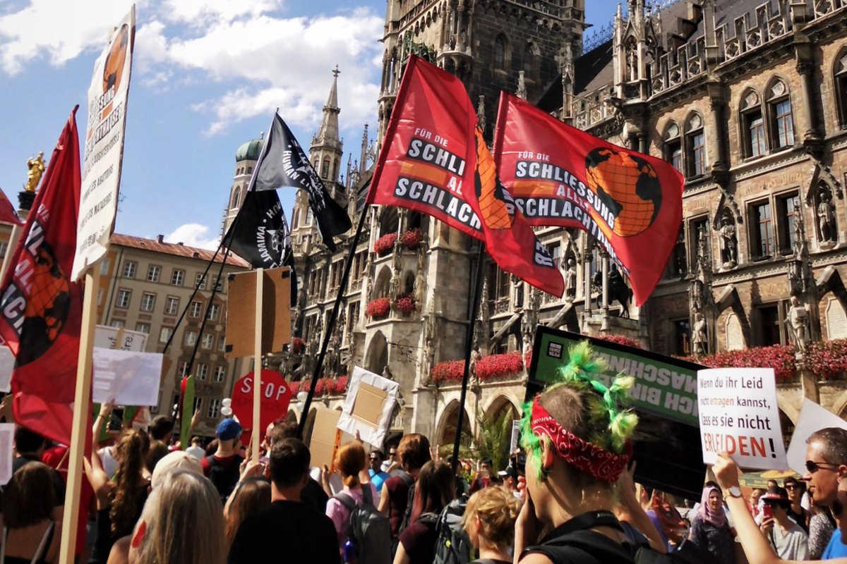 Demos für die Schließung aller Schlachthäuser München