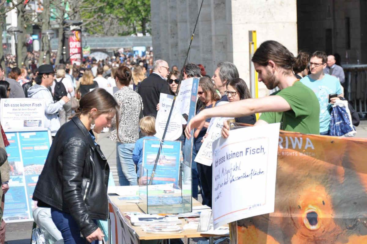 Welttag für das Ende der Fischerei Stuttgart