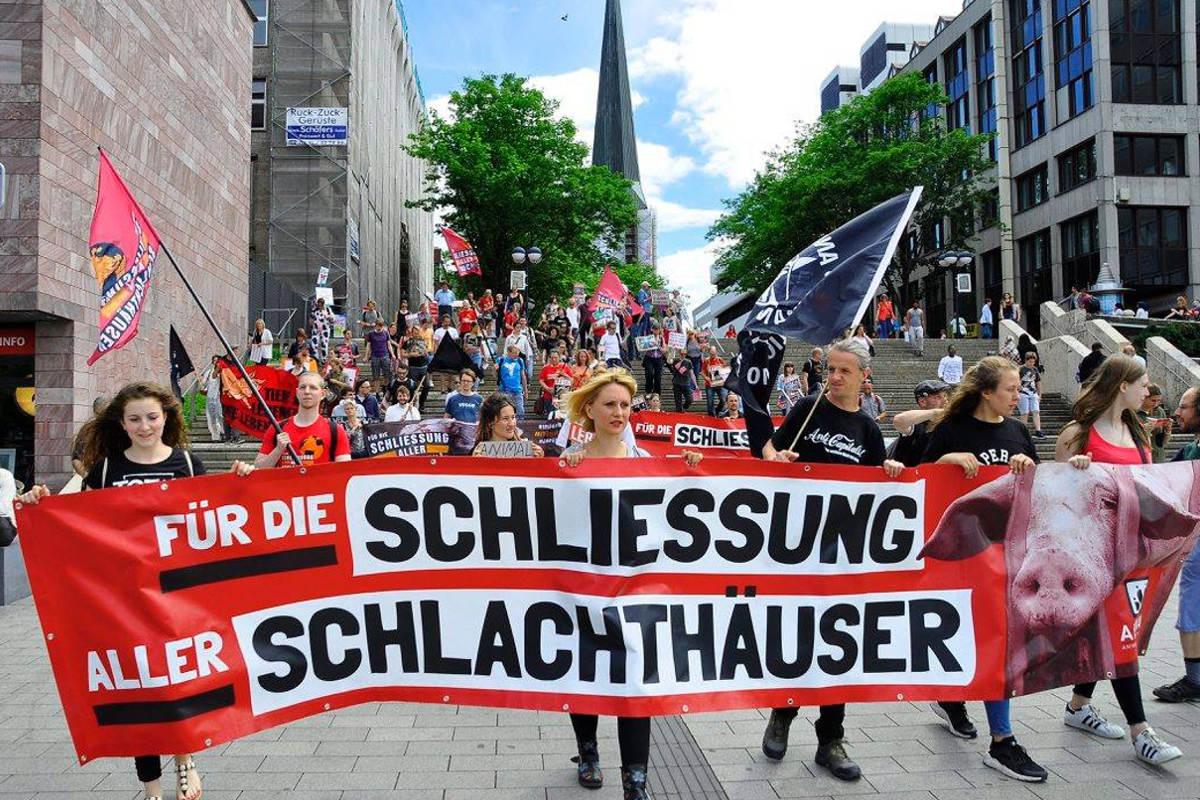 Demo zur Schließung aller Schlachthäuser Dortmund