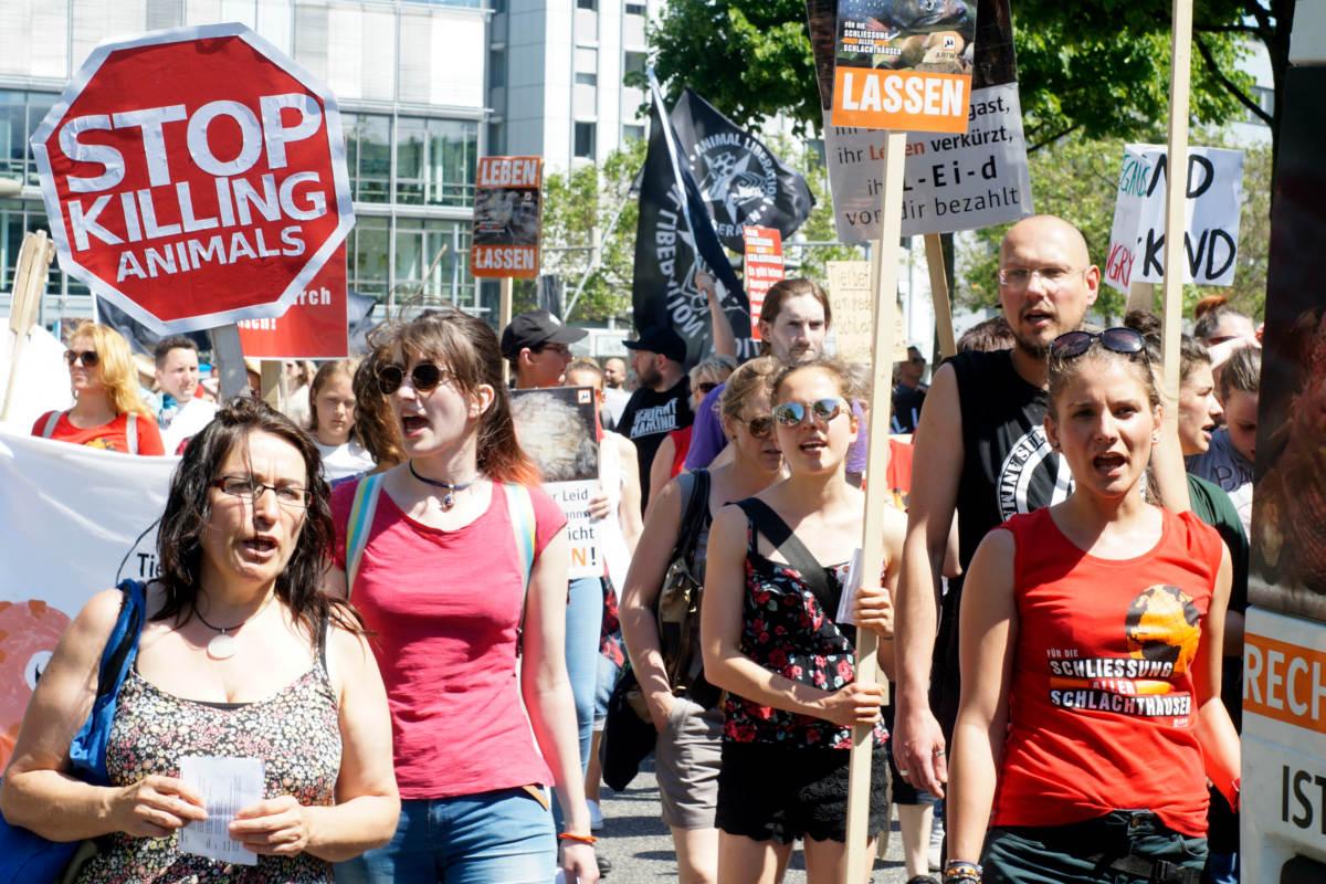 Demo zur Schließung aller Schlachthäuser Hannover