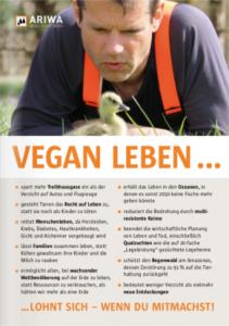 ARIWA-Flyer Vegan leben lohnt sich