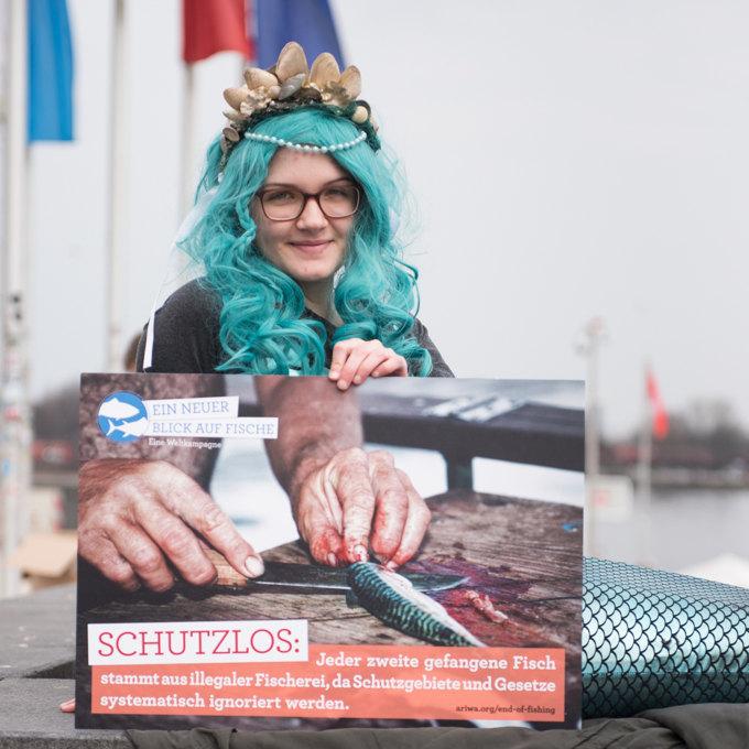 Demo am Welttag für das Ende der Fischerei