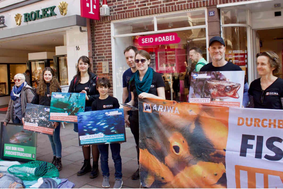 Aktion zum Tag für das Ende der Fischerei