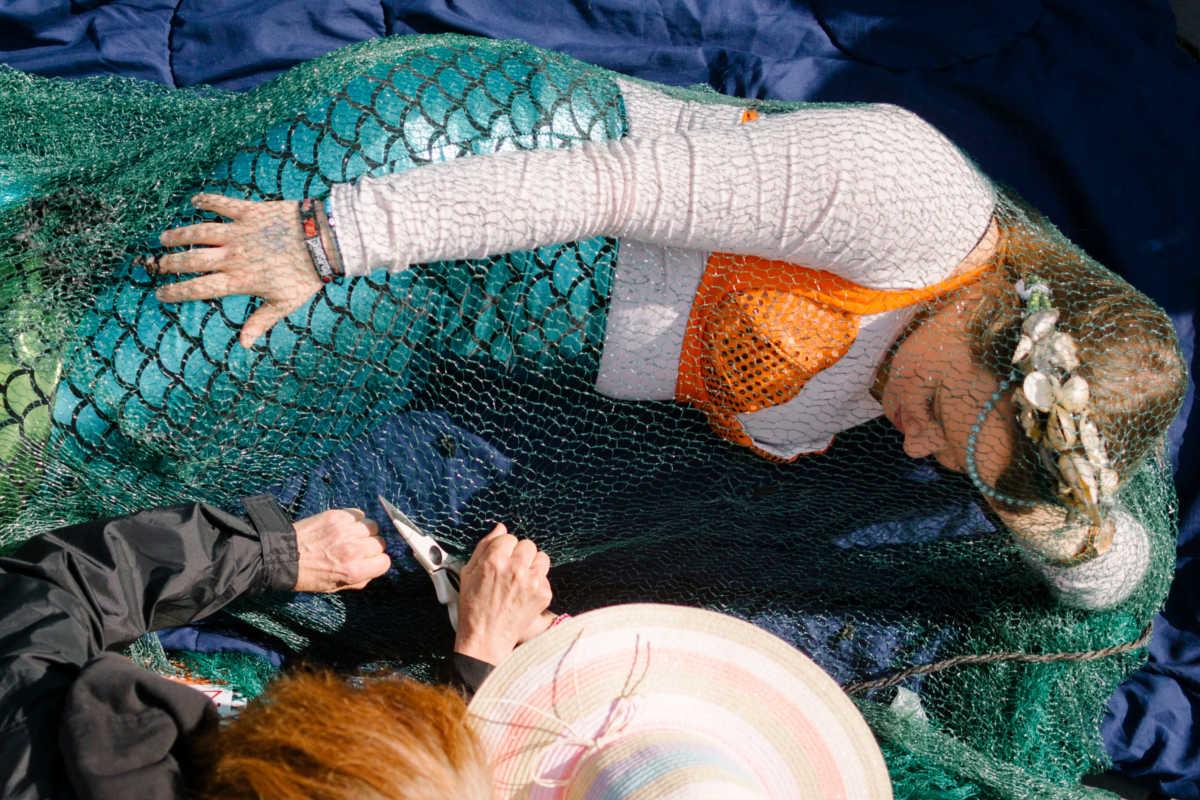 Aktionsform: Meerjungfrauenaktion