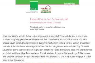 Arbeitsblätter: expedition_schweinestall