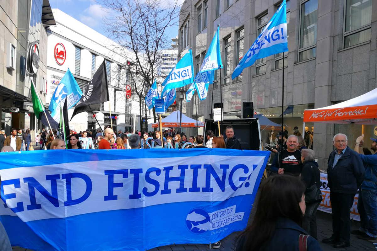 Welttag für das Ende der Fischerei in Bielefeld 2019