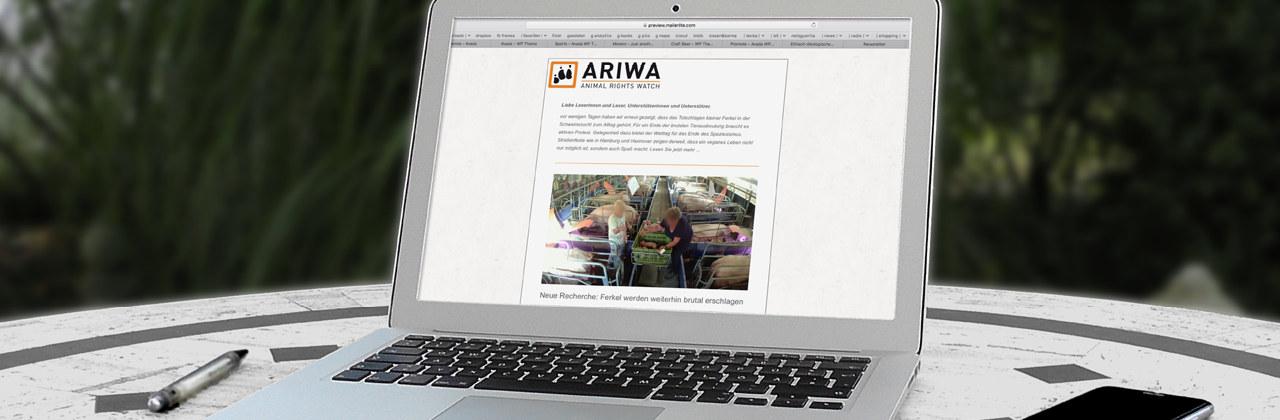 Für den ARIWA-Newsletter eintragen