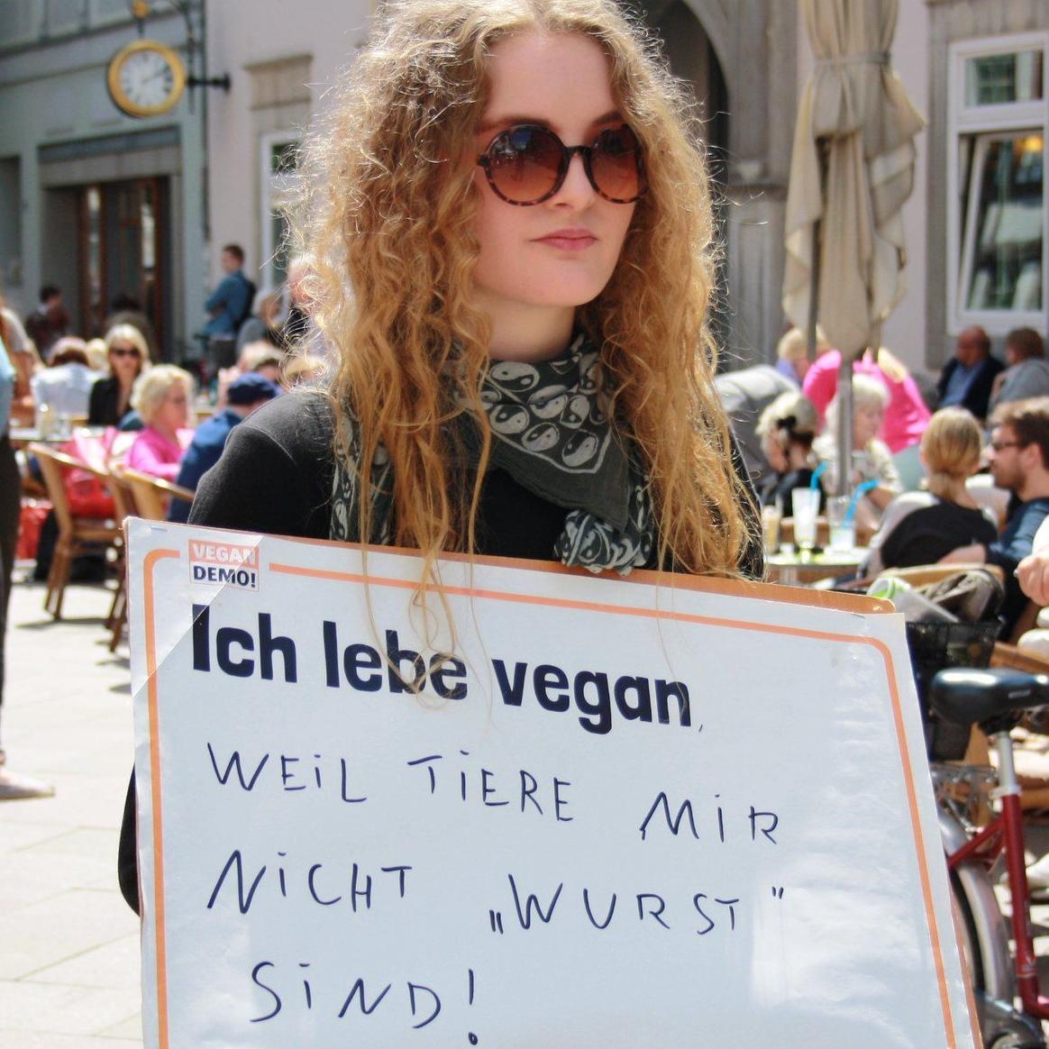 Vegan Demo beim Volksfest
