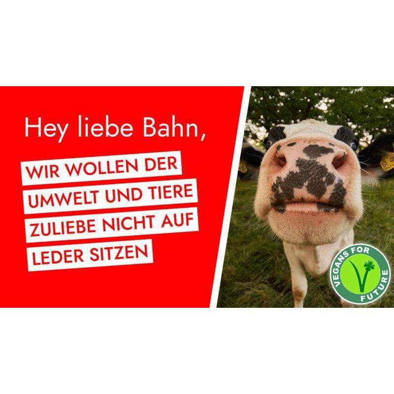 Demo | Kein Tierleder in Zügen der Deutschen Bahn!