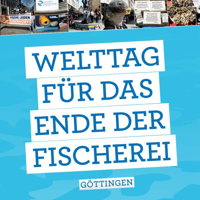 Welttag für das Ende der Fischerei: Protestaktion