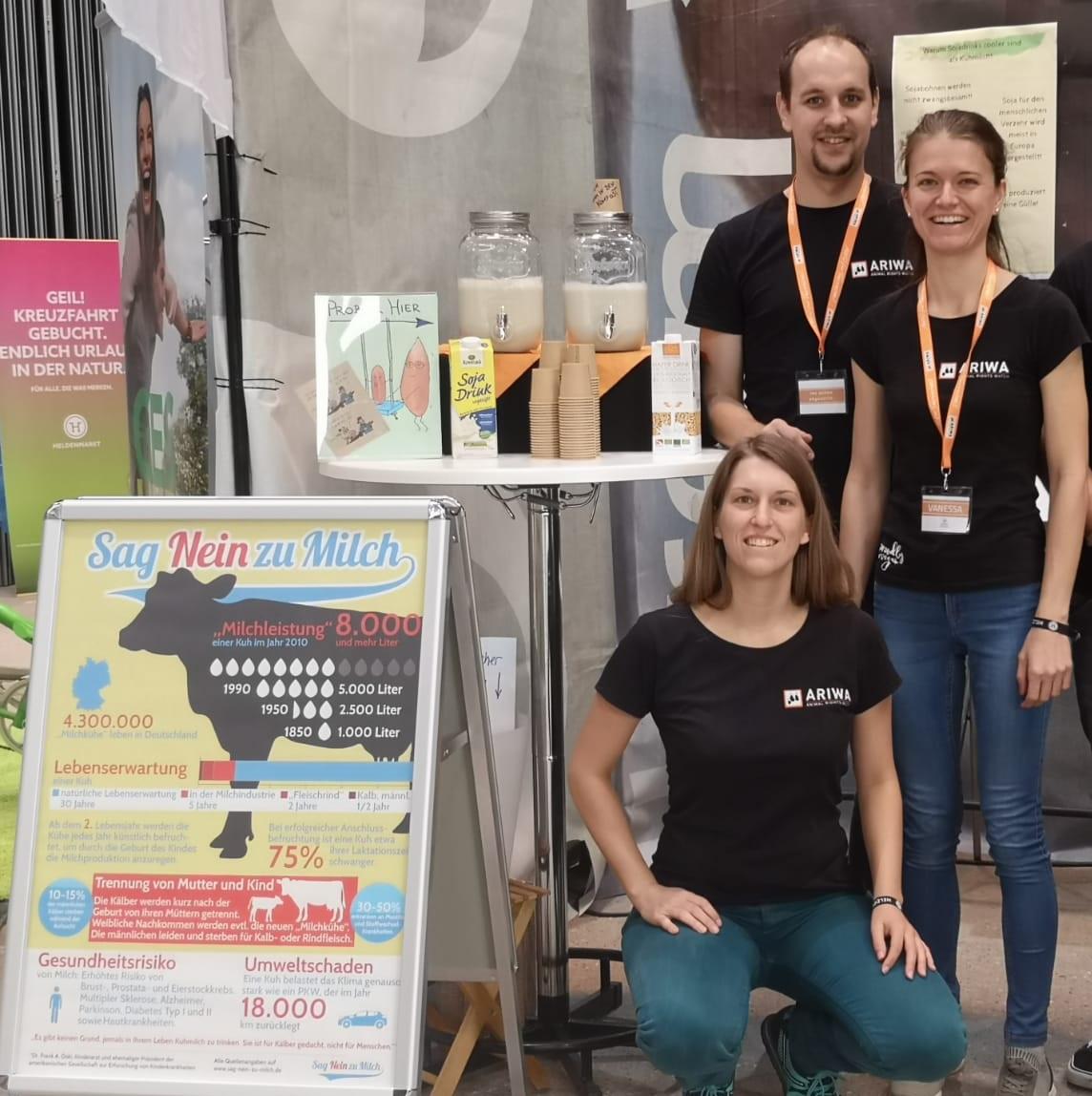 Infostand bei der Veggie&Frei-Von-Messe in Stuttgart
