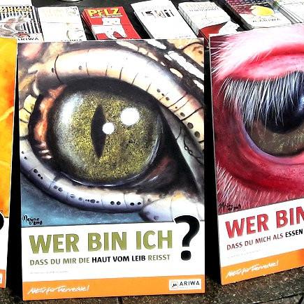 """Schilder für Aktion """"Ende des Speziesismus"""""""