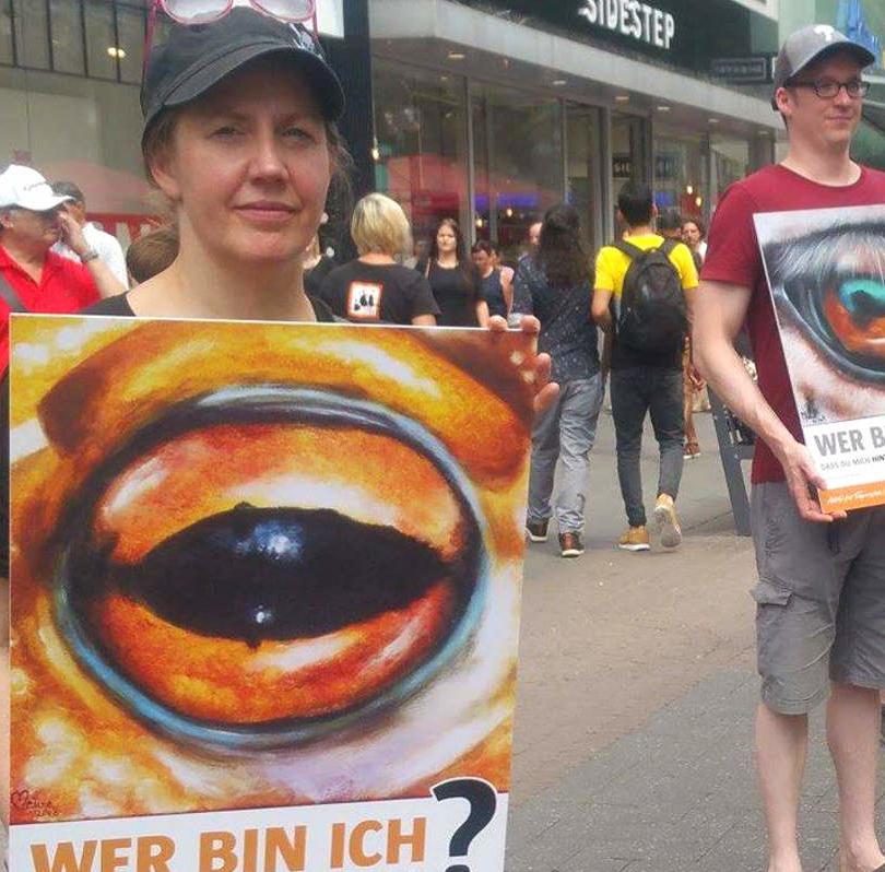Augen-Blicke-Aktion in Frankfurt
